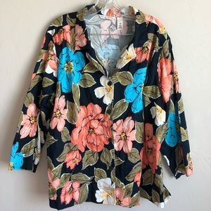 4/$25 French Laundry Floral Button-Down Top